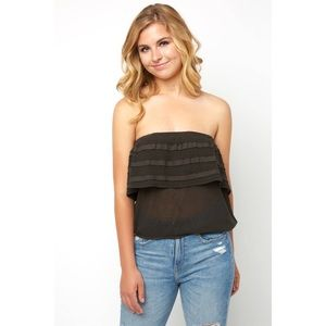 South Moon Under - On The Road Ruffle Tube Top
